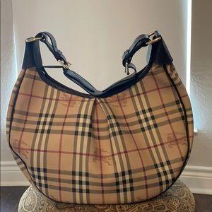 Burberry check print handbag